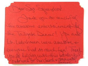 St. Paul thank you note