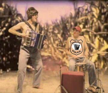 Polka Police - Omaha, Nebraska, Iowa best accordion drums party rock cover duo band for private parties, receptions, events and concerts